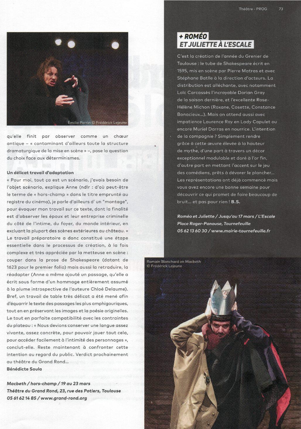 Le Brigadier / Macbeth/hors-champ
